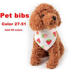 Реверсивные хлопковые нагрудники для домашних животных банданы аксессуары для кормления ткань для новорожденных собак кошек щенков