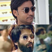 New metal UV400 sunglasses star Kabir Singh Indian film aviation men's