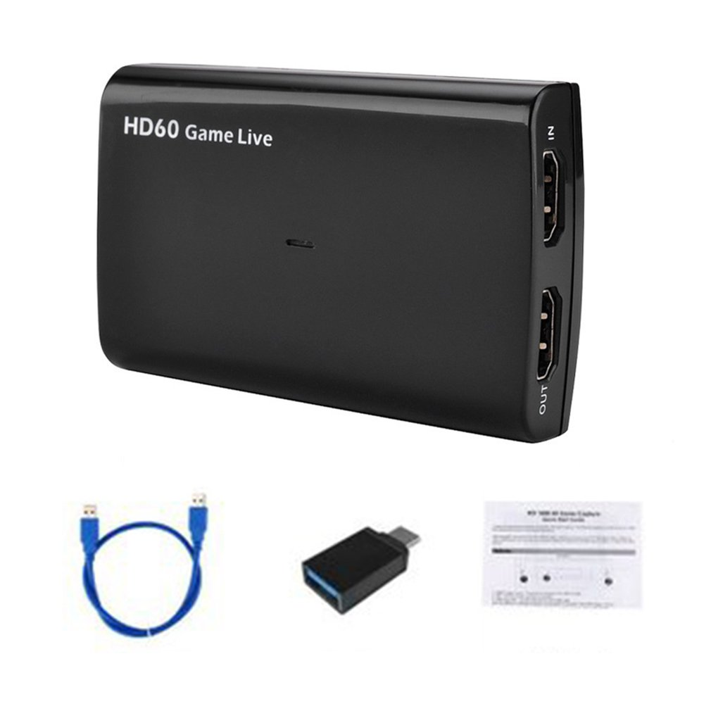 HDMI USB3.0 Capture Game Live Box 4k Ultra Hd Microphone Input Game Live Device Video Conferences Film Production Devices