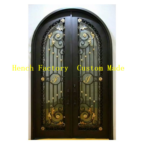 Shanghai Hench Brand China Factory 100% Custom Made Sale Australia Wrought Iron Pantry Door