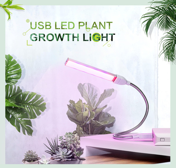 USB LED Grow Light Full Spectrum 3W 5W DC 5V Fitolampy For Greenhouse Vegetable Seedling Plant Lighting IR UV Growing Phyto Lamp - discount item  35% OFF Professional Light