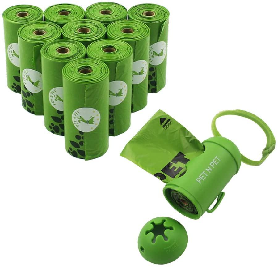 Мешки для собак экологически чистые 180 шт 10 рулонов мешки