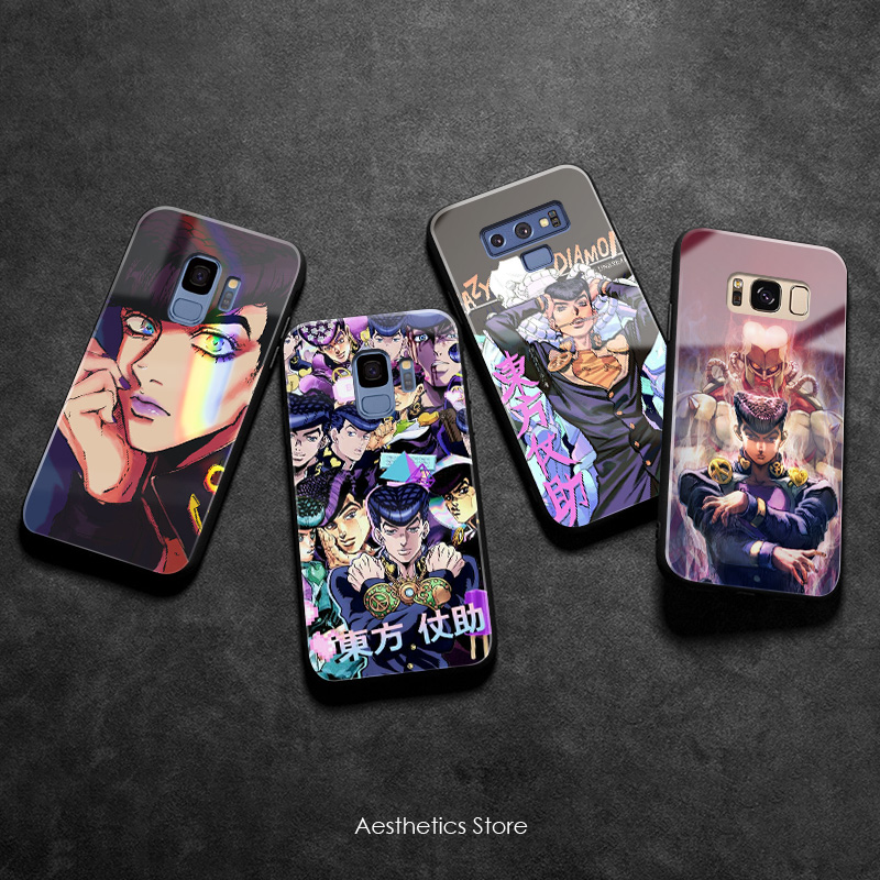 Josuke Higashikata JoJo's Bizarre soft silicone glass <font><b>Phone</b></font> <font><b>case</b></font> cover shell For <font><b>Samsung</b></font> Galaxy S8 S9 S10e S10 Note 8 9 10 Plus image