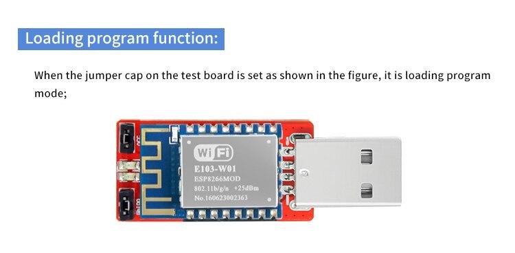 WIFI Module USB Test Board ESP8266 E103-W01-BF IoT Transceiver
