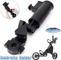Golf Universal Regenschirm Halter Einstellbare Winkel Golf Trolley Zubehör Golf Pull Warenkorb Halter(China)