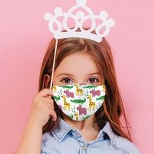Mask Hallowen Cosplay Mouth Kids Face Designer Maks Reusable 2 Children