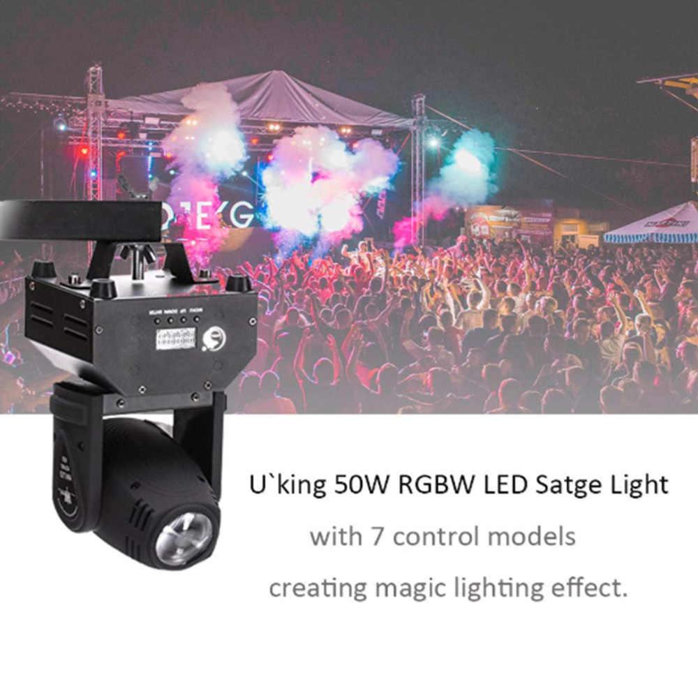 50 Вт RGB светодиодный вращающиеся лампы для сценического освещения с 7 моделями управления дискоклуб вечерние танцевальные свадебные бар театральные пабы Волшебные световые украшения