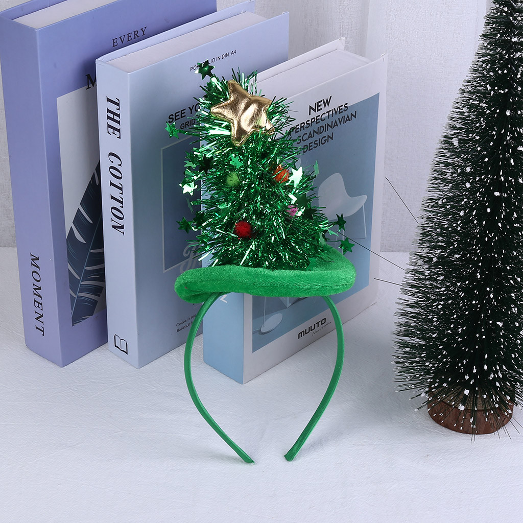 Sequins Christmas Tree Snowman Girls Hair Hoop Hairbands Xmas Party Kids Girl Headbands Boutique Tiara Headwear Hair Accessories