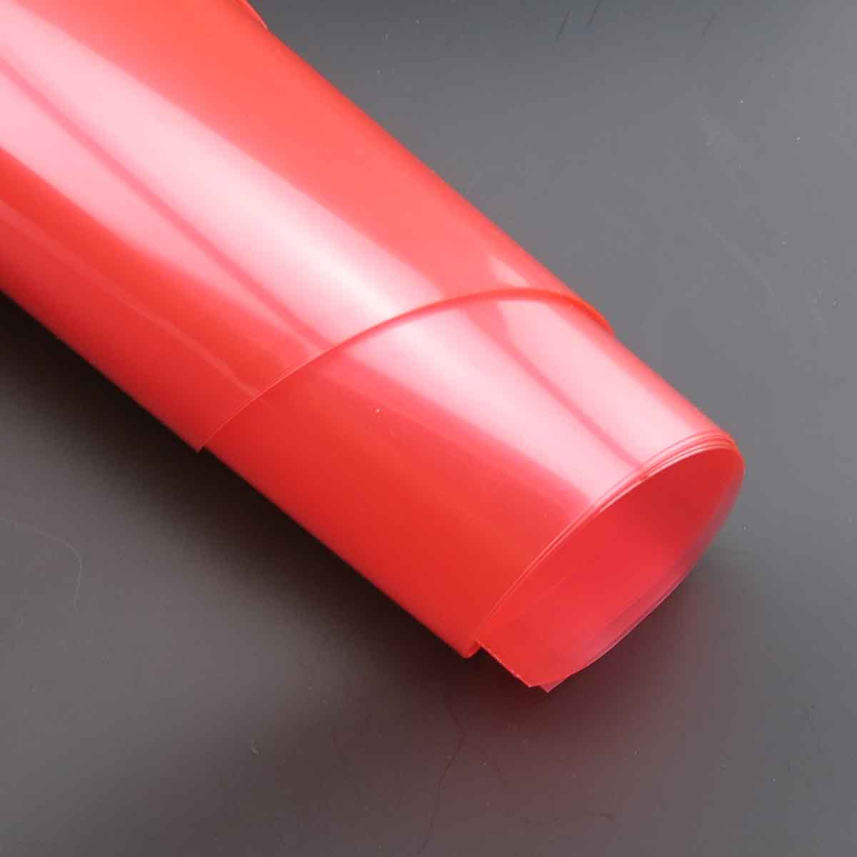Прозрачный ПП-пластик материал ручной работы пленка DIY пластиковая бумага тонкий пластиковый лист прозрачный красный