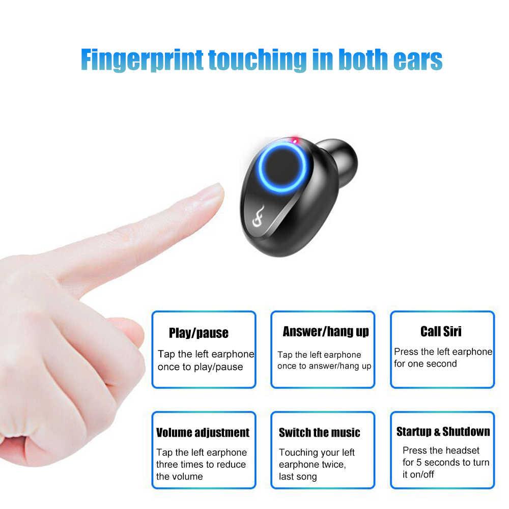 Słuchawki bezprzewodowe słuchawki Bluetooth 5.0 słuchawki douszne stereo prawdziwe słuchawki douszne zestaw słuchawkowy z redukcją szumów mi dla xiaomi iphone 7 8