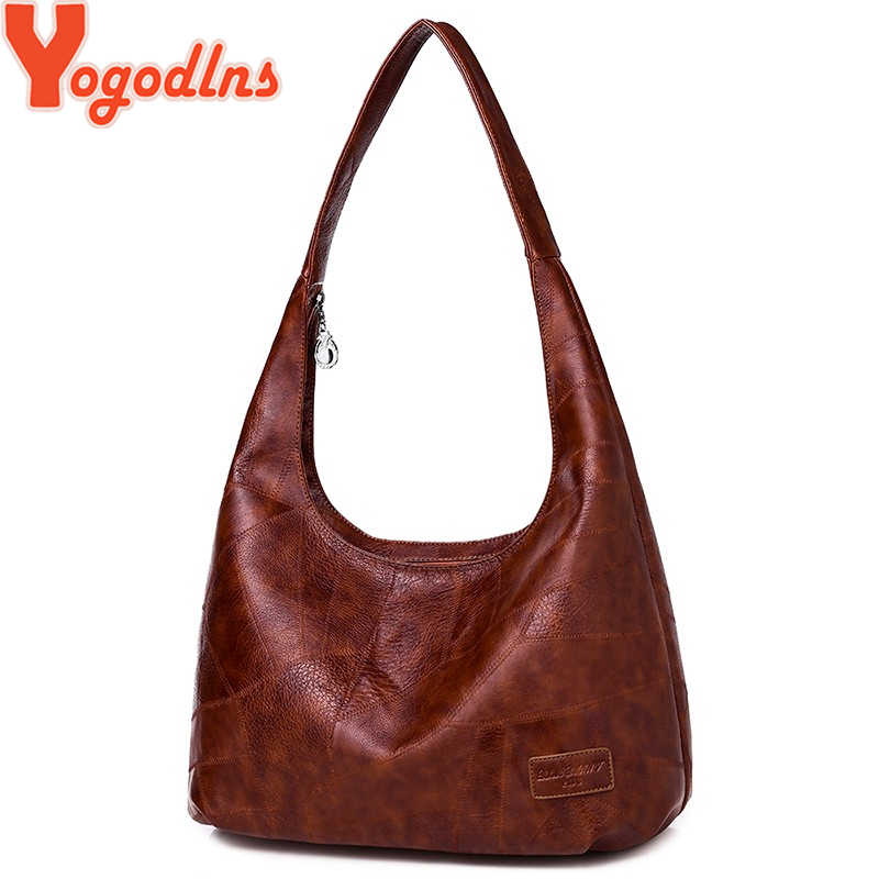 Yogodlns New Dumpling Hobos Bags for Ladies High Capacity Shoulder Bags Simple Fashion Design Women Handbags Large Casual Totes