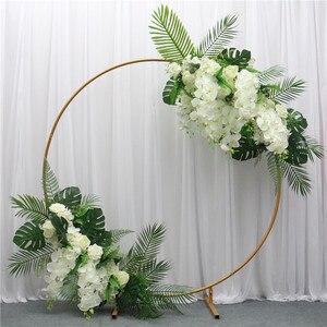Image 5 - 200cm מלאכותי יצוק ברזל עגול טבעת קשת דלת דקור סימולציה פרח שורה בית חג חגיגת חתונה צילום 1pc
