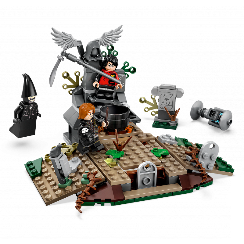 New 208pcs Harri Movie The Rise Of Voldemort Building Blocks Compatible Legoinglys 75965 Toys Gift For Children
