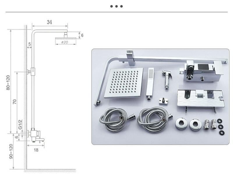 He7b1a2427d80463db2059c4c6a6576b2X Thermostatic Digital Display Shower Faucet Set Shower Mxer Crane Rain Shower Bath Faucet Bathtub Shower Mixer Taps Bidet Faucet