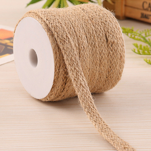 5M Natural Burlap Hessian Jute Twine Cord Linen Rope String Gift Packing Strings Wedding Party DIY Decorative Linen Rope
