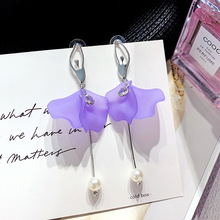 Super Fairy Ballet Earrings Long Pearl Tassel European and American Exaggerated Fashion Personality