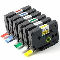 Tze231 12mm * 8m Tze etykiety kompatybilne Brother p touch drukarki Tze 231 Tz231 Tze131 231 631 335 831 931 drukarka wstęgowa P touch Taśmy do drukarek    -