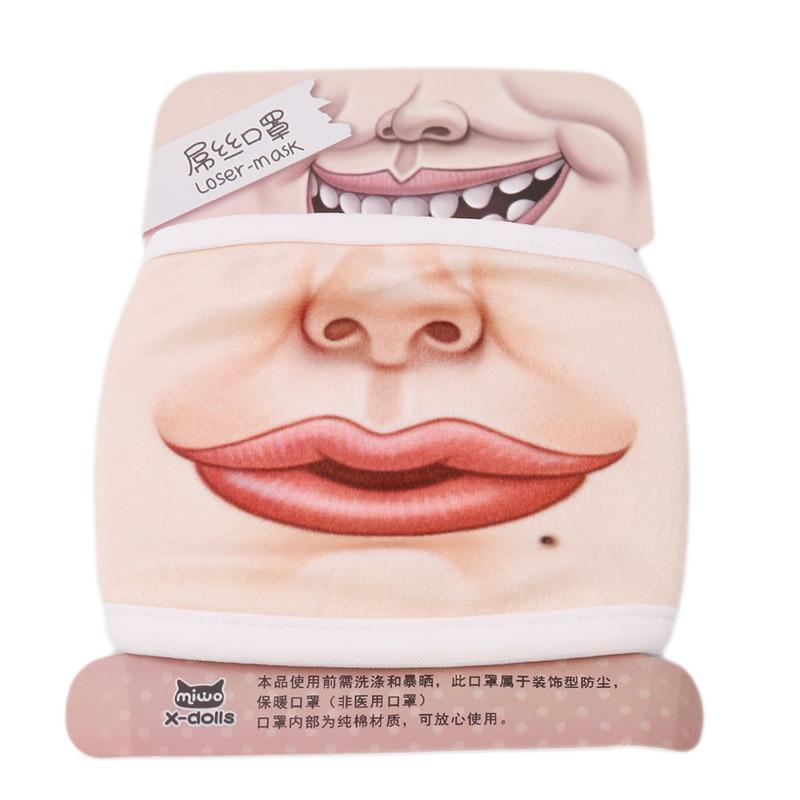 Милые 3D смешные маски для лица маска для лица Велоспорт респиратор теплые Вечерние Маски