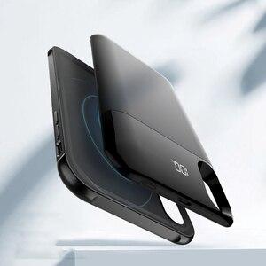Сверхтонкий 5000 мАч Беспроводное зарядное устройство, чехол для iPhone X Xs 5500 мАч для iPhone XR Xs Max мобильный телефон, чехол, Банк питания
