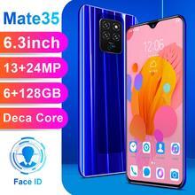 M35 Pro 6.3 Inch 4G Smartphone 6GB RAM 128GB ROM Water Drop Screen Mobile