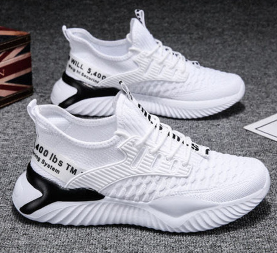 Lace up Fashion Sneakers Men's Sports Shoes Comfortable Breathable Men Running Shoes Hot Sale Autumn Non slip Training Shoes