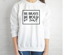 be brave sweatshirt womens kind hoodie plus size women hoodies pink casual harajuku 2019 pullovers letter gothic mama