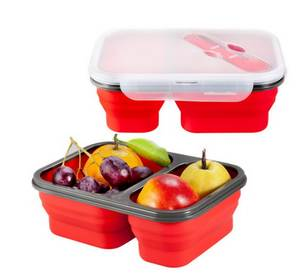 Collapsible Lunchbox Microwave Food-Storage 50pcs Bowl Oven Large-Capacity Silicone DHL