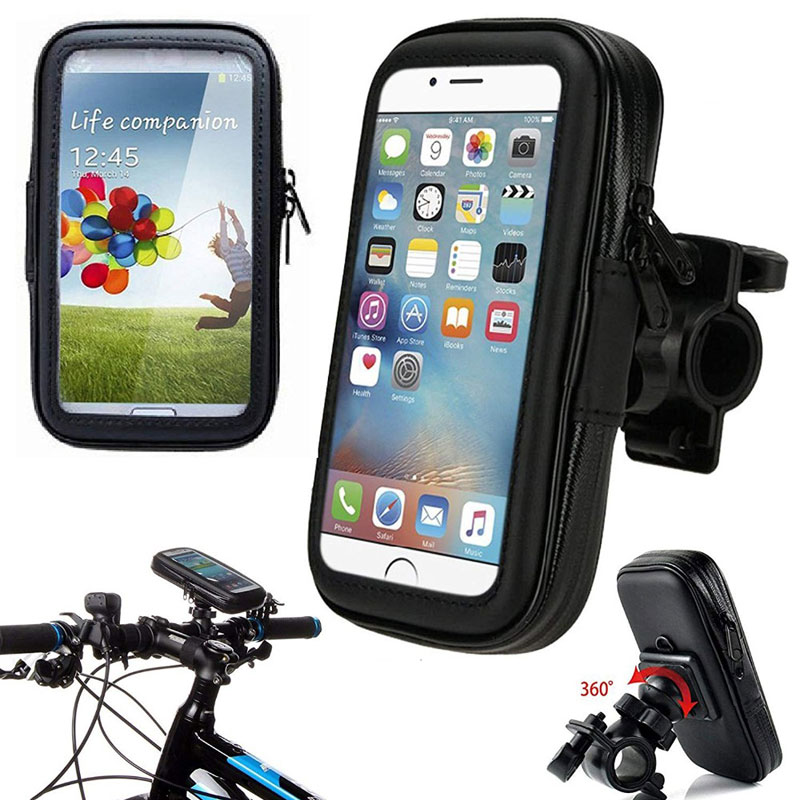 Waterproof Motorcycle <font><b>Phone</b></font> <font><b>Holder</b></font> <font><b>Bike</b></font> Mobile Support Bag for <font><b>Samsung</b></font> Note 10 Plus <font><b>S9</b></font> S8 GPS Cell <font><b>Phone</b></font> Mount Stand Universal image