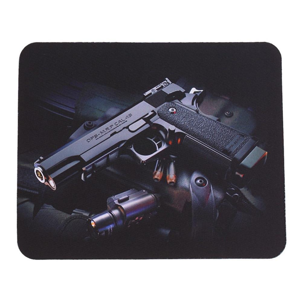 Gun Picture Anti-Slip Lap PC Mice Pad Mat Mousepad For Optical Laser Mouse Wholesale