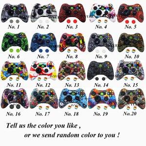 Image 2 - IVYUEEN 20 צבעים עבור Microsoft Xbox 360 בקר מגן סיליקון מקרה העברת מים הדפסת עור עם אגודל אוחז כיסוי