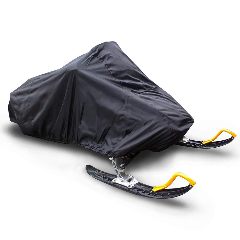 145inch Trailerable Waterproof Outdoor Ski Snowmobile Sled Cover Full Storage Black Snowmobile Cover 368*130*121cm