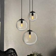 Nordic Compound Restaurant Glass Ball Pendant Lamp Living Room Bedroom Indoor Kitchen Fixtures Decor Light Suspension Luminaire цена в Москве и Питере