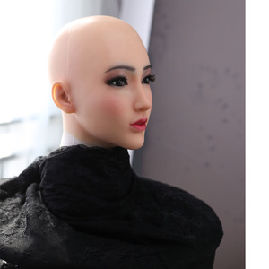 Image 5 - Dokier Realistic Silicone full head face props Female Masquerade Halloween Cosplay Drag Queen Crossdresser Cover Facial Scars