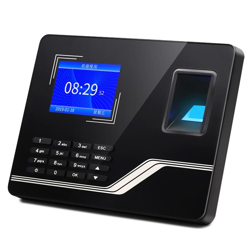 Wall Mounted Fingerprint Password Time Clock, Biometric Attendance Machine Employee Recorder Checking-in Recorder
