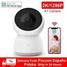 Novo xiaomi câmera inteligente 2k a1 1296p 1080p hd webcam wifi visão noturna 360 ângulo câmera de vídeo do bebê monitor de segurança para mihome