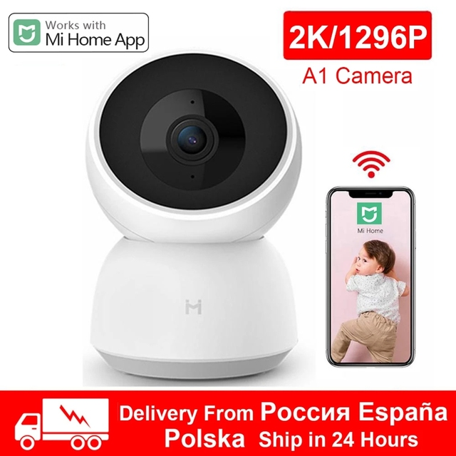 New Xiaomi Smart Camera 2K A1 1296P 1080P HD Webcam WiFi Night Vision 360 Angle Video Camera Baby Security Monitor For MiHome