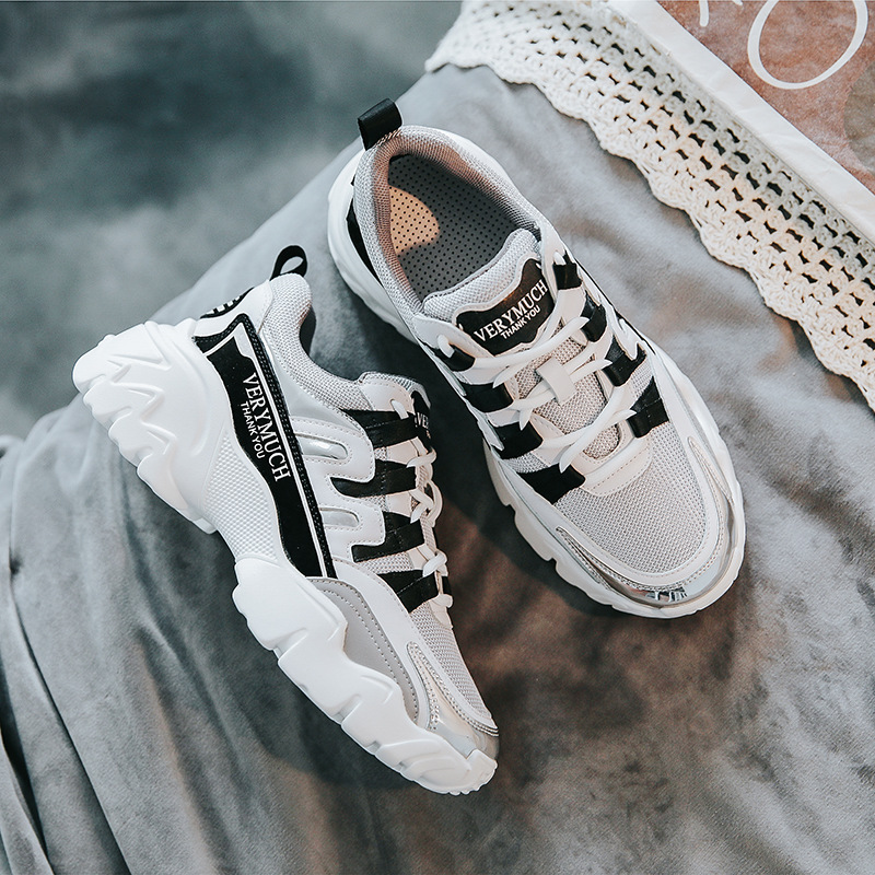Krasovki Genuines Sneakers Women Mesh Elevated Dropshipping Autumn Fashion Thick Bottom Leisure Breathable Sewing Women Shoes in Women 39 s Vulcanize Shoes from Shoes