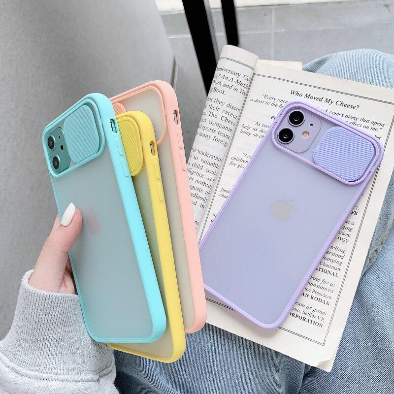 Custodia protettiva per telefono con obiettivo della fotocamera per iPhone 11 12 Pro Max 8 7 6 6s Plus Xr XsMax X Xs SE 2020 12 colori Candy Cover posteriore morbida 2