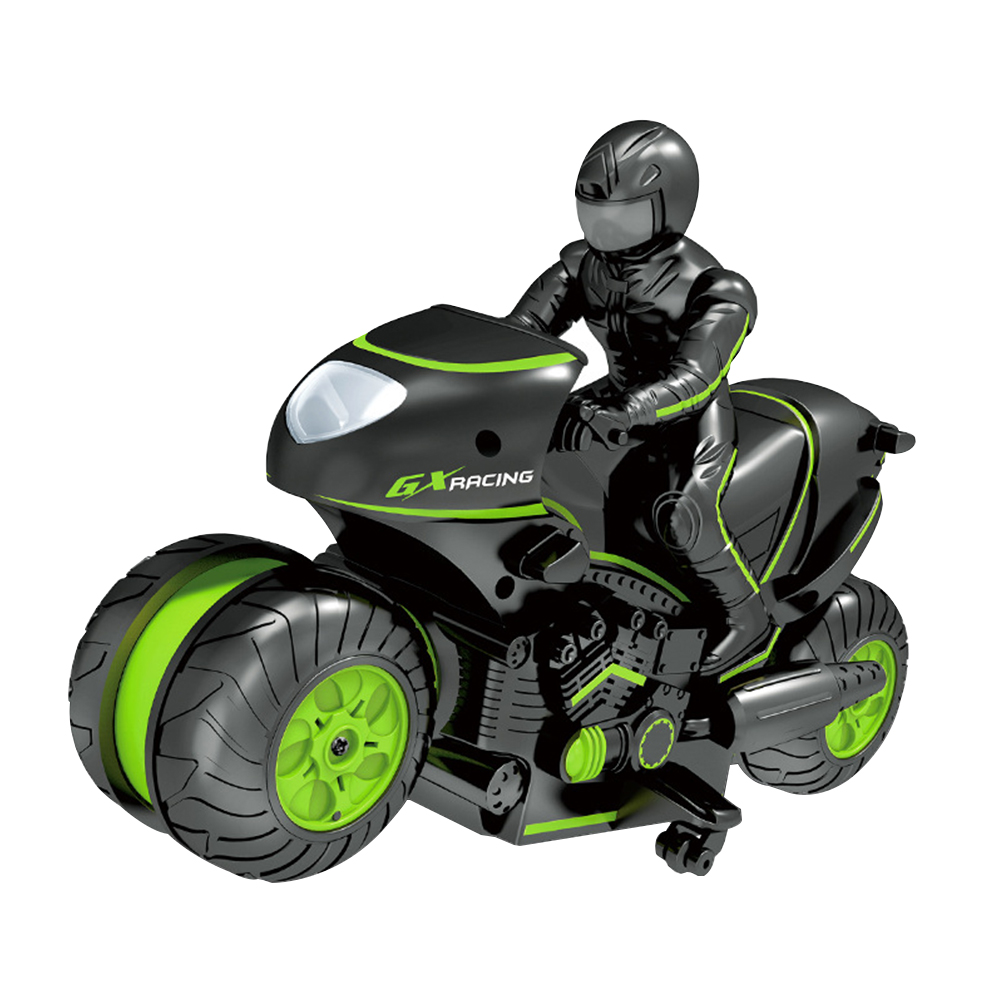 2.4GHz Kids Toy Stunt Drift Off-Road Wireless 360 Degree Rotation USB Rechargeable Motorbike Model RC Motorcycle Birthday Gifts