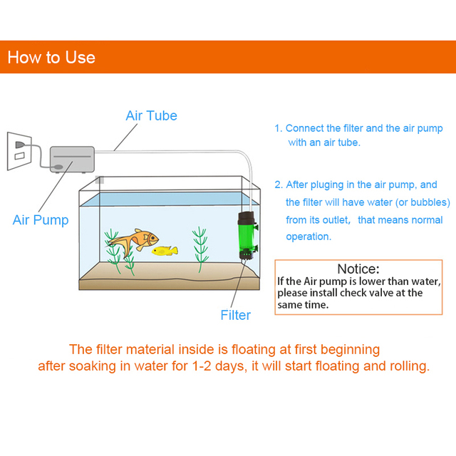 Aquatic Water Filter & Oxygen Pump  3
