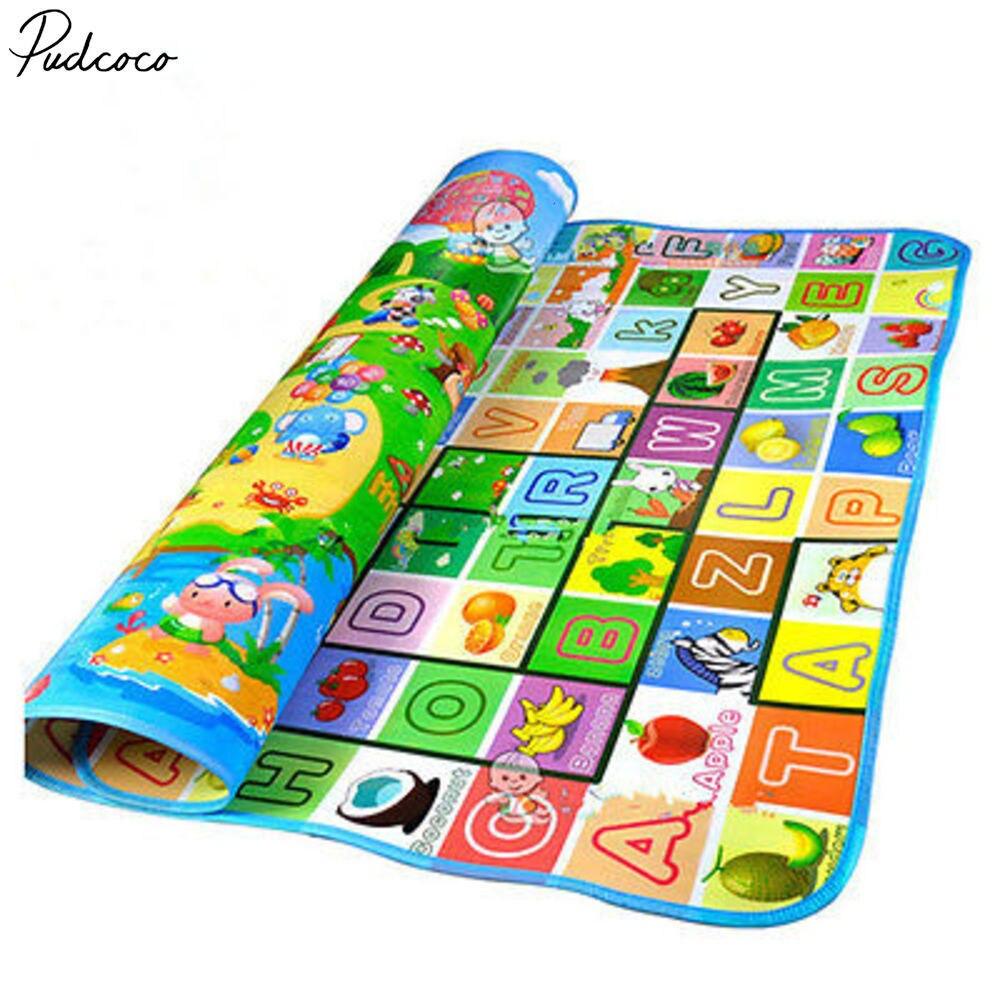 Pudcoco Lovely Newborn Baby Kid Crawl Play Game Picnic Carpet Letter Alphabet Farm Mat