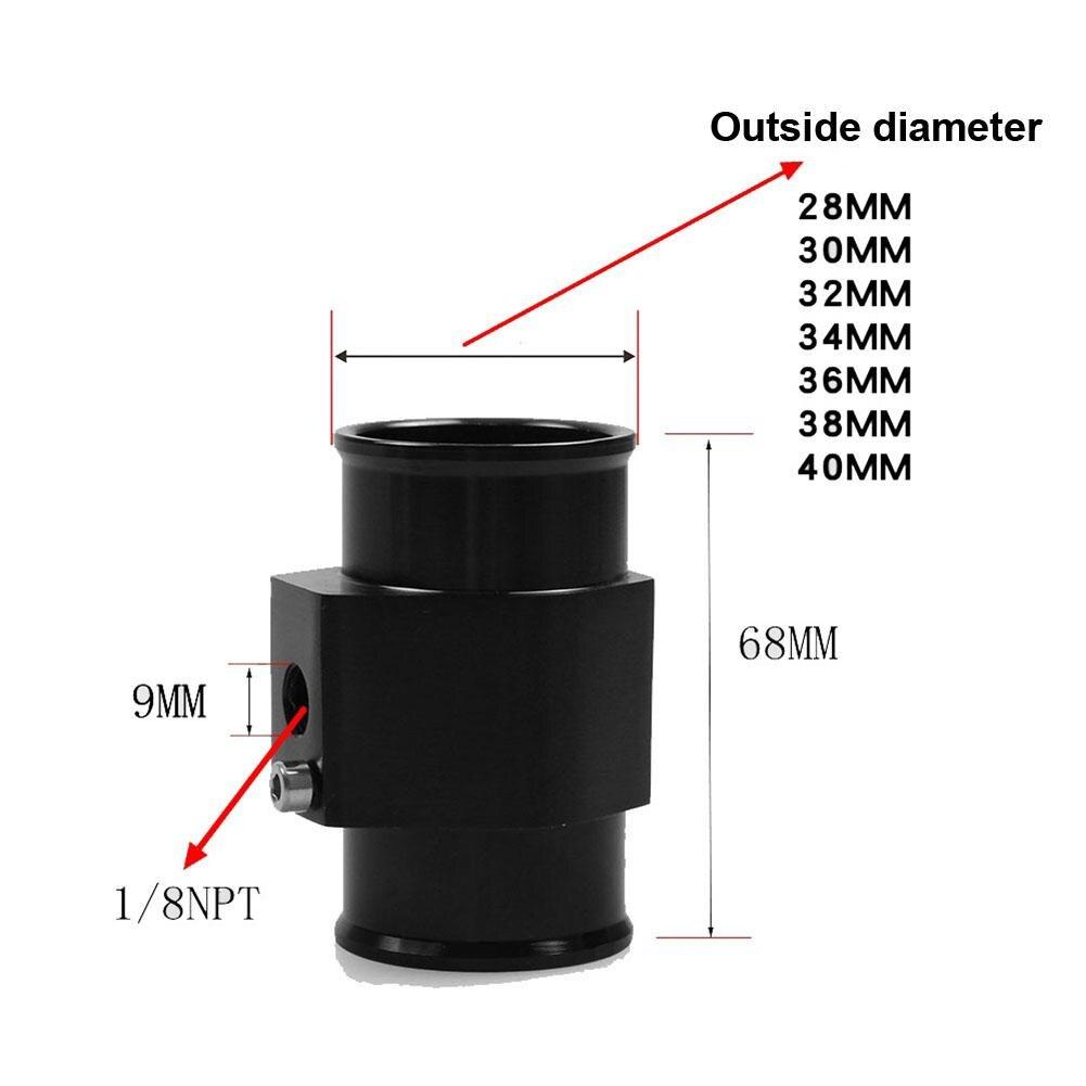 Keine 28-40MM Wasser Temp Temperatur Joint Rohr Sensor Gauge Kühler Schlauch Adapter