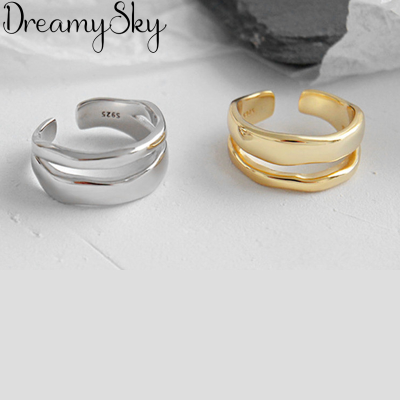 New Irregular Open Rings For Women Lady Punk Vintage Open Antique Rings Statement Jewelry