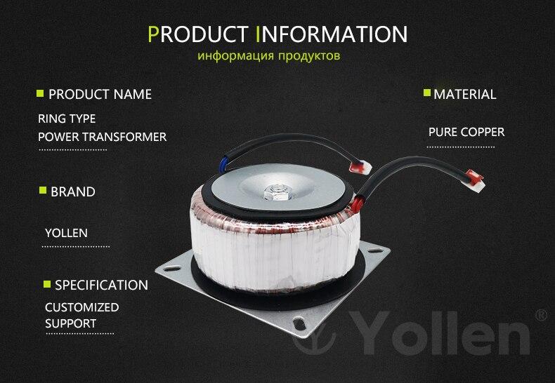 círculo do transformador 150va da potência personalizada