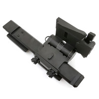 Tactical Magnifier Flip Mount Flip To Side Quick Detach with 5/8 inch Riser for EOTech G23 G33 Fits 20mm Picatinny Rail scope