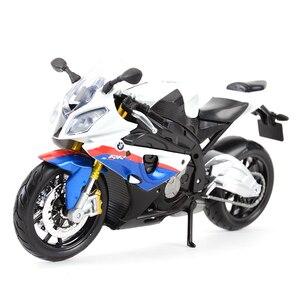Image 1 - Maisto vehículos a presión fundido a presión 1:12, BMW S 1000 RR, juguetes modelo de motocicleta, pasatiempos coleccionables
