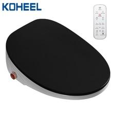 KOHEEL 새로운 4 색 wc 자동 스파 스마트 변기 온도 표시 스마트 손잡이 변기 커버 전자 비데 변기