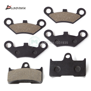ATV Front 4pcs+Rear 2pcs Semi metallic non asbestos Brake Pad for CF Moto CF500 500CC CF 600 600CC X5 X6 X8 U5 ATV UTV Shineary
