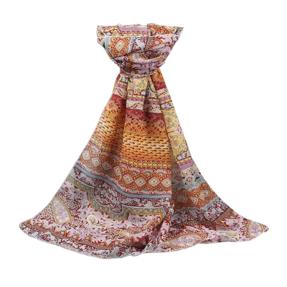 2020 New Autumn Winter Women's Long Soft Wrap Shawl Chiffon Print Scarf Hair / Head Scarves Women Bandana Elegant Scarf#927