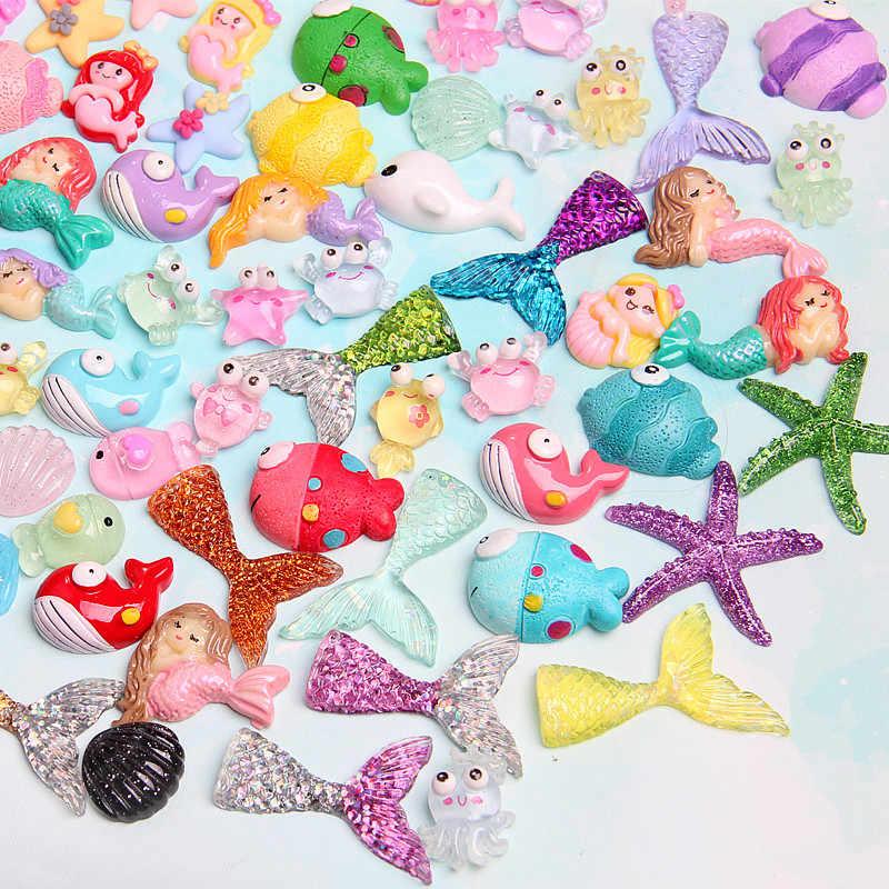 10 قطعة الدب حورية البحر الحلوى بوليمر الوحل لعبة للأطفال البحر الحيوان سحر النمذجة الطين DIY كيت اكسسوارات الاطفال Plasticin هدية